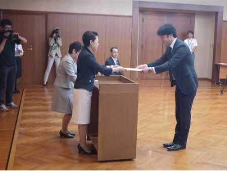 東京都足立区での表彰