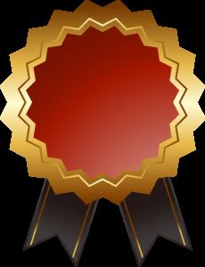 受賞リボン1
