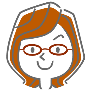 眼鏡の女性アイコン